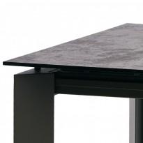 Vermont Iron Grey стол раскладной глазурованное стекло 120-170 см (112899)