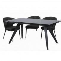 Glassy Keen стол раскладной чёрный 160-240 см (111703)