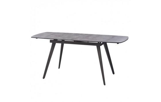 Largo Iron Grey стіл розкладний глазуроване скло 120-180 см (111871)
