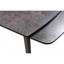 Largo Iron Grey стол раскладной глазурованное стекло 120-180 см (111871)