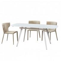 Largo Matt White стол раскладной стеклянный 120-180 см (111872)