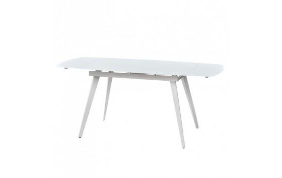 Largo Matt White стіл розкладний скляний 120-180 см (111872)