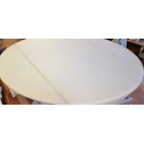 Стіл кухонний розкладний скляний бежевий сатин DAOSUN DST 041