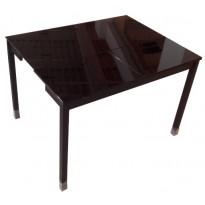 Стіл кухонний розкладний скляний чорний DAOSUN B 2221
