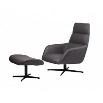 Berkeley лаунж кресло с подставкой, серый графит (112011)