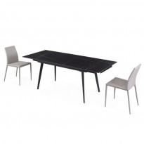 Hugo Lofty Black стол раскладной керамика 140-200 см (114292)