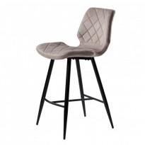 Diamond полубарный стул тёплый серый (115128)