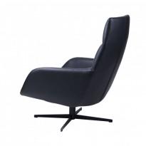Berkeley лаунж кресло с подставкой, чёрный (112012)