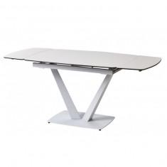 Elvi Pure White стол керамический 120-180 см (115297)