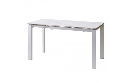 Bright White Marble стол керамический 102-142 см (115324)