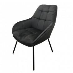 Morgan лаунж крісло сірий графіт (112926)