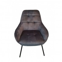 Morgan лаунж кресло серый графит (112926)