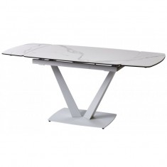 Elvi Matte Staturario стол керамический 120-180 см белый (115285)