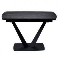 Elvi Black Marble стол керамический 120-180 см чёрный (115286)