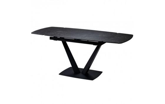 Elvi Black Marble стіл керамічний 120-180 см чорний (115286)