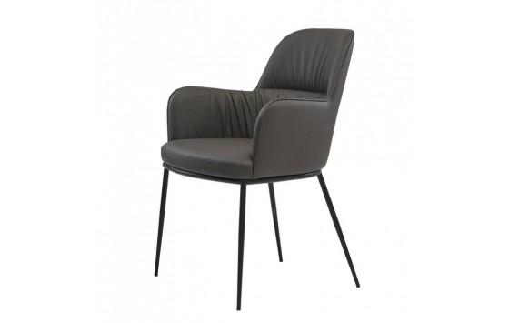 Sheldon крісло екошкіра сірий графіт (112831)