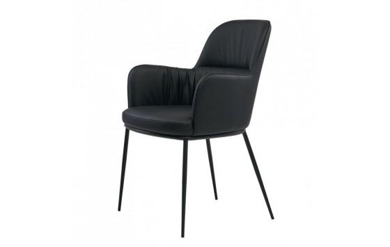 Sheldon кресло экокожа чёрное (112832)