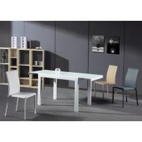 Стол обеденный раскладной стеклянный белый DAOSUN DF 103Т