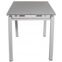 Стіл кухонний розкладний скляний сіро-бежевий сатин DAOSUN DT 8110