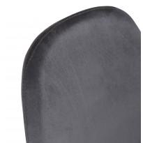 Стул кухонный темно-серый ткань бархат DAOSUN DC 211
