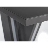 Стіл обідній нерозкладній скляний з МДФ графіт матера сатин DAOSUN DT 402 U