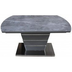 Стіл обідній розкладний кераміка з МДФ сірий  DAOSUN DT 8103