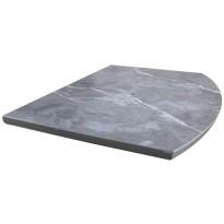 Стіл обідній розкладний МДФ з керамікою сірий мармур DAOSUN DT 8103