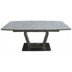 Стол обеденный раскладной керамика, МДФ шампань DAOSUN DT 8108