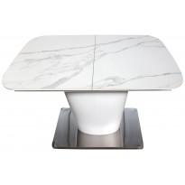 Стіл обідній розкладний МДФ з керамікою білий мармур DAOSUN DT 874