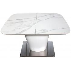 Стол обеденный раскладной керамика МДФ белый DAOSUN DT 874