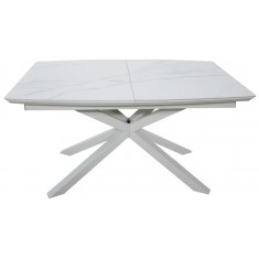 Стіл обідній розкладний кераміка з МДФ білий  DAOSUN DT 888B