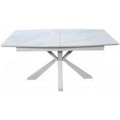Стіл обідній розкладний кераміка з МДФ білий  DAOSUN DT 878