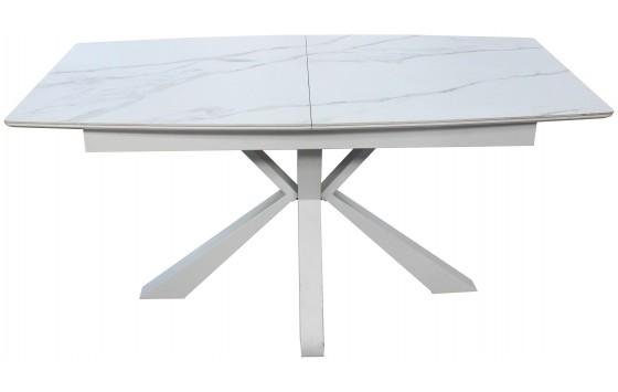 Стол обеденный раскладной керамика МДФ белый DAOSUN DT 878