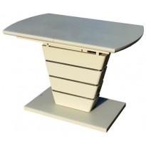Стол кухонный раскладной стеклянный с МДФ шампань сатин DT 8103 small