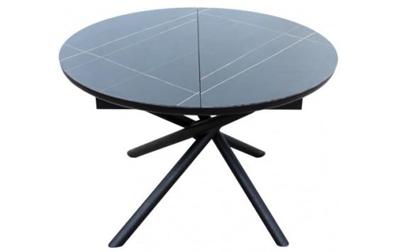 Стіл обідній розкладний кераміка чорний DAOSUN DT 8115