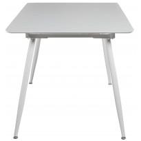 Стол кухонный раскладной стеклянный с МДФ ультрабелый сатин DAOSUN DT 859s