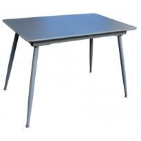 Стол кухонный раскладной стеклянный с МДФ серый сатин DAOSUN DT 859s