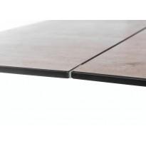 Стол обеденный раскладной стеклянный с керамикой серый DAOSUN DT 8101