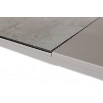Стол обеденный раскладной стеклянный с МДФ керамика серый DAOSUN DT 874