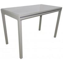 Стол кухонный раскладной стеклянный серо-бежевый DAOSUN RF 3028 5DT