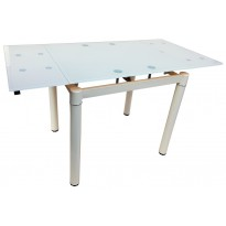 Стол кухонный раскладной стеклянный бежевый DAOSUN DSТ 020