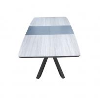 Стол обеденный раскладной стеклянный с МДФ дуб керамический DAOSUN DT 888B