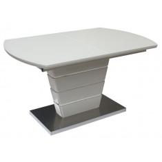 Стол обеденный раскладной стеклянный с МДФ шампань сатин DAOSUN DT 8103