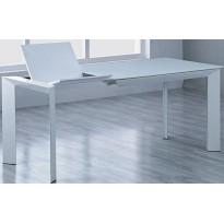 Стол обеденный раскладной стеклянный белый DAOSUN DF 201T