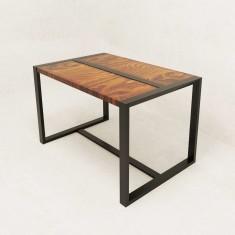 Стол обеденный в стиле Лофт с перемычкой Parallel ST-06