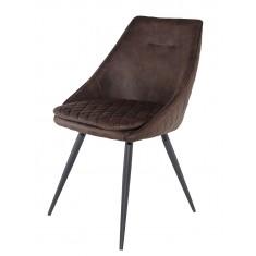 Стілець кухонний темно-коричнева тканина DAOSUN DC 9552A