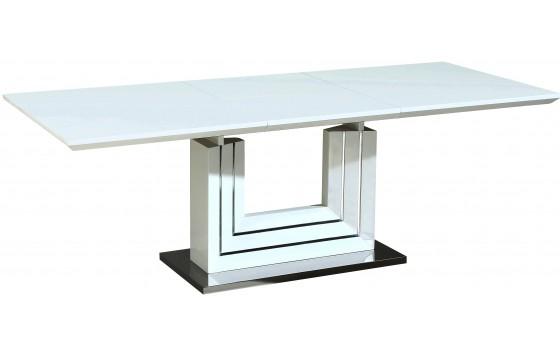 Стіл обідній розкладний білий DAOSUN DSТ 419