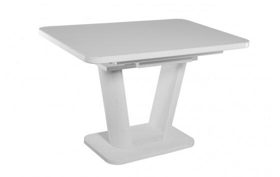 Стол обеденный раскладной стеклянный с МДФ сосна белая сатин DAOSUN DT 8104 U