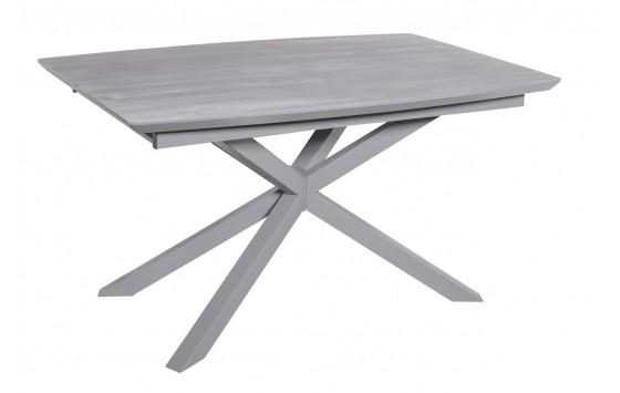 Стол обеденный раскладной стеклянный с МДФ серый дуб DAOSUN DT 888B