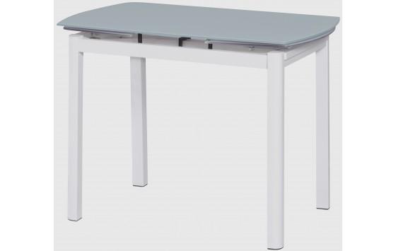 Стіл кухонний розкладний скляний білий DAOSUN DST102